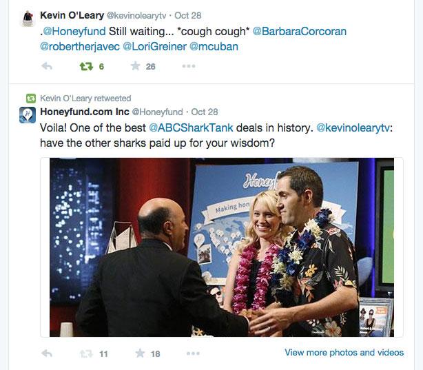 Honeyfund & Kevin O'Leary Shake Hands